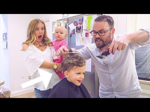 Dad Cuts His Hair!!