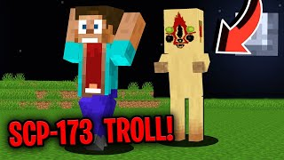They Freaked When They Saw Scp-173 In Minecraft... Trolled In Minecraft Video