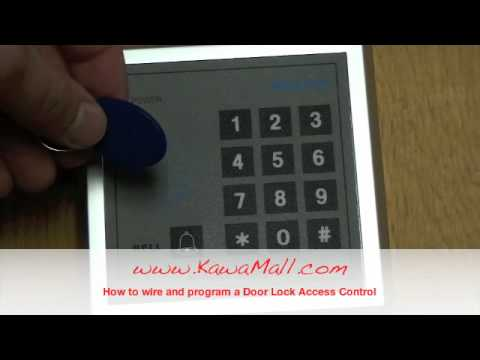 KAWAMALL RFID Door Lock Access Control System Install - YouTube