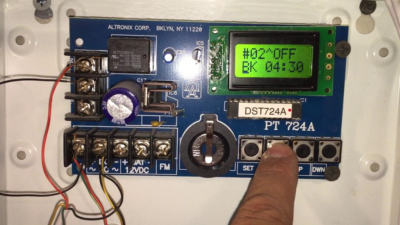 altronix brooklyn ny 11220 model dst724a timer [ 1280 x 720 Pixel ]