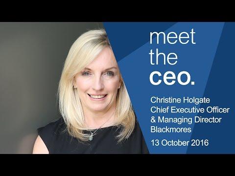 Meet the CEO - Christine Holgate, CEO Blackmores