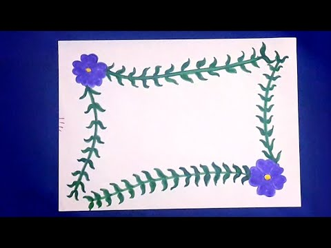 simple flower border design paper border design diy projects
