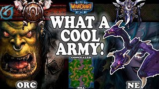 Grubby | Warcraft 3 TFT | 1.30 | ORC v NE on Concealed Hill - What a Cool Army!