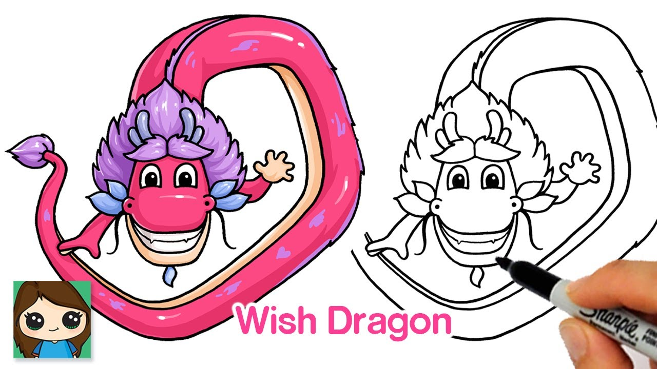 How to Draw Long from Wish Dragon 🐉