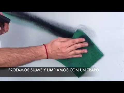 Limpieza de grafitis sobre superficie protegida con PLX CRISTAL COLOR