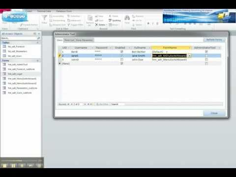 how to create login form in ms access 2010 pdf