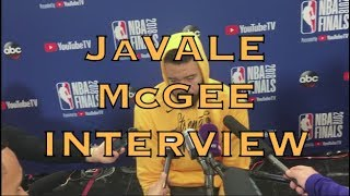 Partial JaVALE McGEE interview+transcription: currently listening to G-Eazy pregame