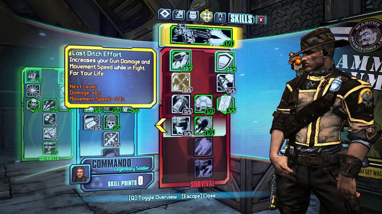 Borderlands  Commando Build Op