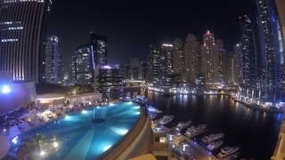 Night Time-lapse from The Address Dubai Marina