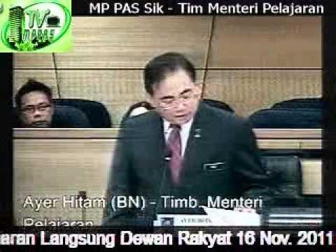 MP PAS Sik - Tim. Menteri Pelajaran Bahas Peruntukan 2012
