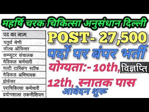 Maharishi Charak Samhita Research Delhi Recruitment 2018| Notification out, Apply Ofline| job update