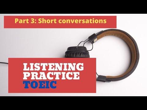 TOEIC SAMPLE TEST PART 3 - YouTube