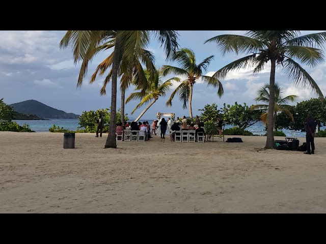 Sapphire Beach wedding bride saxophone serenade st Thomas Virgin Islands