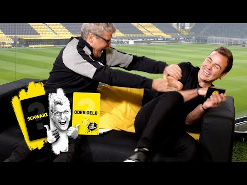 Mario Götze takes on Nobby | 'The Duel: 🖤 or 💛 ?'