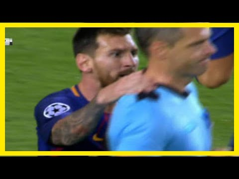 Lionel messi: cristiano ronaldo fans want barcelona star banned for putting hands on ref