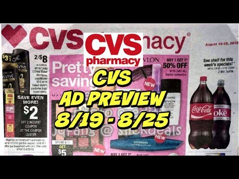 CVS AD PREVIEW 8/19 - 8/25 ~ Deals on...