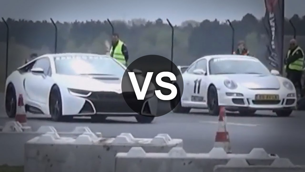 Bmw I8 Vs 911 Gt3 C63 Amg Vs Bmw M3 E92 Drag Race Youtube
