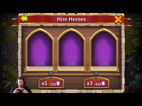 Rolling 25,000 Free 2 Play Gems For Heroes NEED Aries Castle Clash