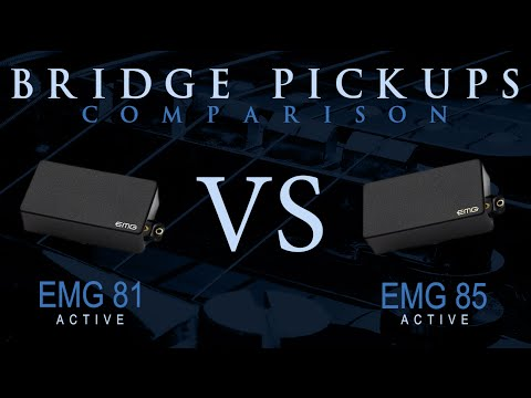 EMG 81 vs EMG 85 - Active Bridge Pickup Guitar Tone Comparison / Review