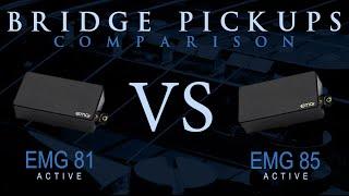 EMG 81 vs EMG 85 - Active Bridge Pickup Guitar Tone Comparison / Review