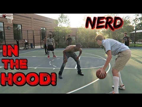 DC Heat Nerd Plays Basketball In The HOOD!