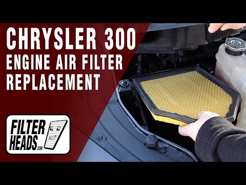 How to Replace Engine Air Filter 2017 Chrysler 300 3.6L V6