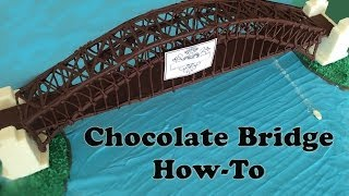 Chocolate Sydney Harbour Bridge fireworks HOW TO COOK THAT Ann Reardon