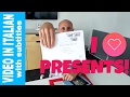[Video in Italian with subtitles]  -   GETTING PRESENTS FROM YOU! - Grazie mille