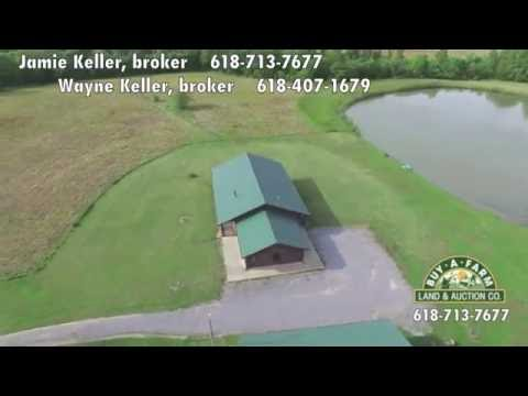 Log Home & Pond on 20 Acres East of Mt. Vernon IL