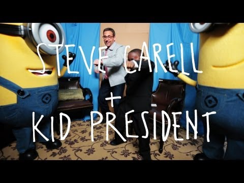 KID PRESIDENT talks to STEVE CARELL about DESPICABLE ME 2!