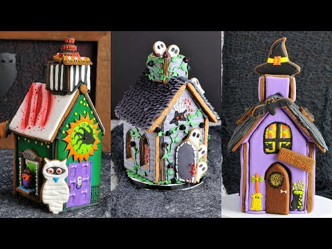 How To Make Amazing Halloween Gingerbread Houses By Hanielas
