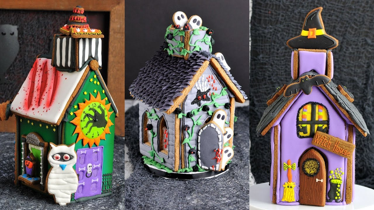 how to make 3 amazing halloween gingerbread houses by hanielas