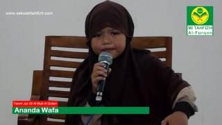 Gambar cover Ananda Wafa Tasmi' Qs  Al Mulk AL Qalam Sekolah Tahfizh Al Furqon