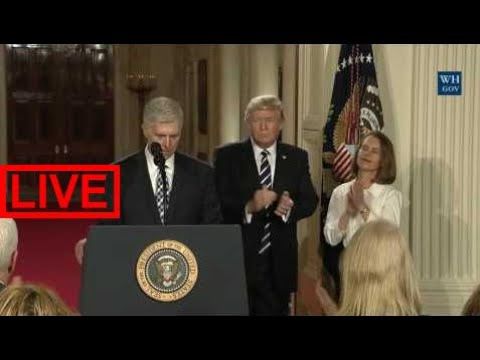 Watch Full: President Trump Announces Supreme Court of the United States Nominee | Neil Gorsuc #THS