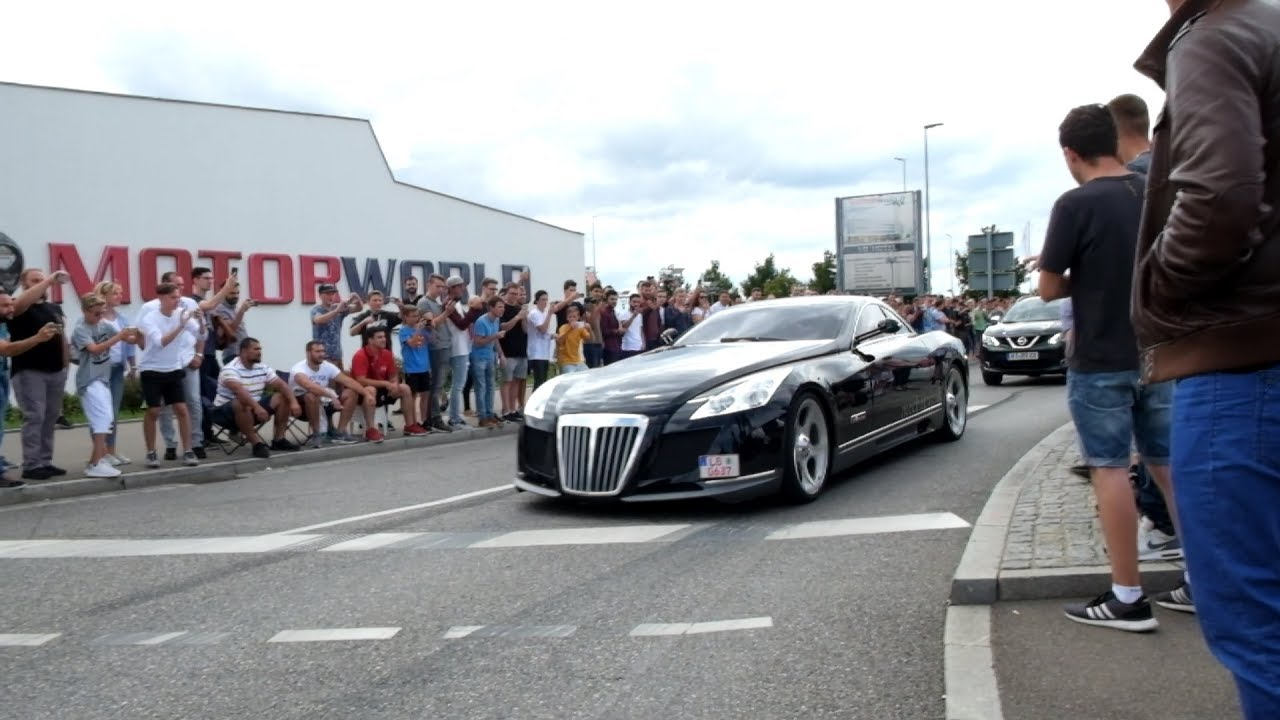 8 million $ maybach exelero spotted at motorworld böblingen - youtube