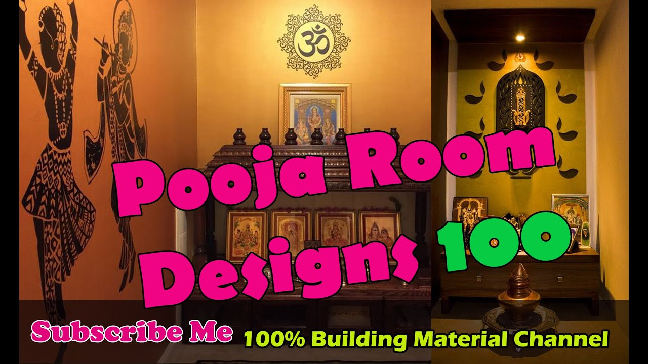 pooja room 100 | puja room idea 100 | pooja room designs - YouTube