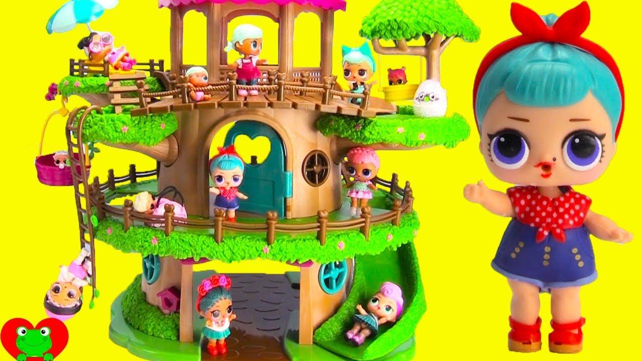 Lol Surprise Dolls Giant Tree House Surprises Youtube