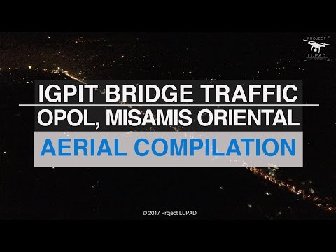 Igpit Opol Bridge Heavy Traffic Aerial Compilation
