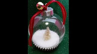 Snow Globe Ornament Super Simple