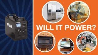 Patriot Power Generator - What Can My Generator Power?