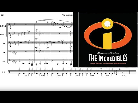 The Incredibles for Brass Quintet Sheet Music
