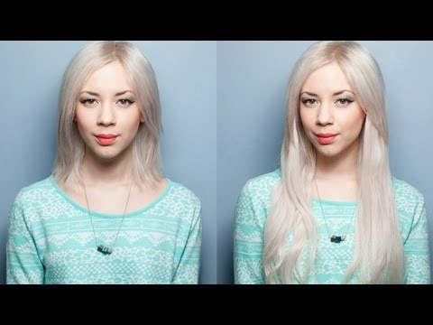 How To Apply Clip-In Hair Extensions In Short Hair (Requested) - YouTube