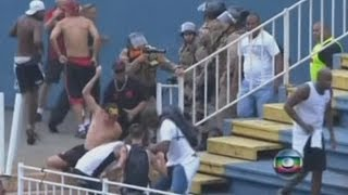 Violent fights break out at Brazilian football match