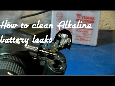 How To Clean Alkaline Battery Corrosion From Contacts