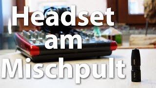 Headset-Mikrofon am Mischpult oder Audio-Interface anschließen - mit dem Rode VXLR+-Adapter