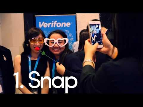 Interactive photo activity at corporate conference