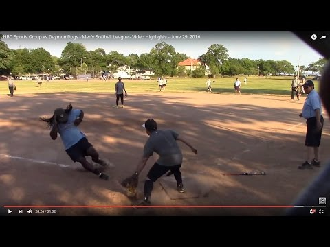 NBC Sports Group vs Daymon Dogs - Men's Softball League - Video Highlights - June 29, 2016