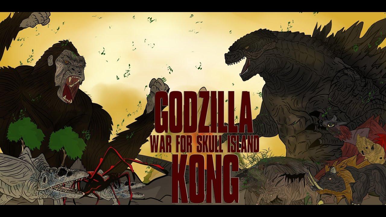 bb127d29 GODZILLA VS KONG WAR FOR SKULL ISLAND KAIJU MOMENTS #37 - YouTube