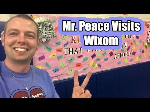 Mr. Peace Visits Wixom Elementary School in Wixom, Michigan
