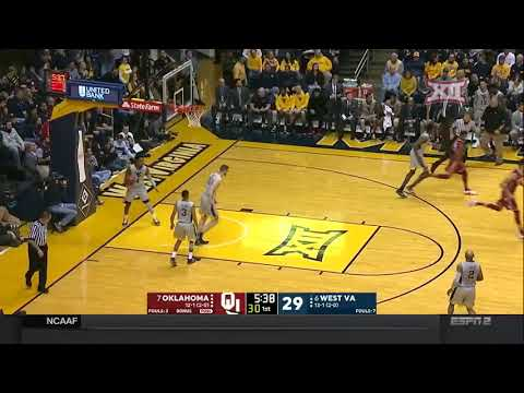 Oklahoma at West Virginia Men's Basketball Highlights